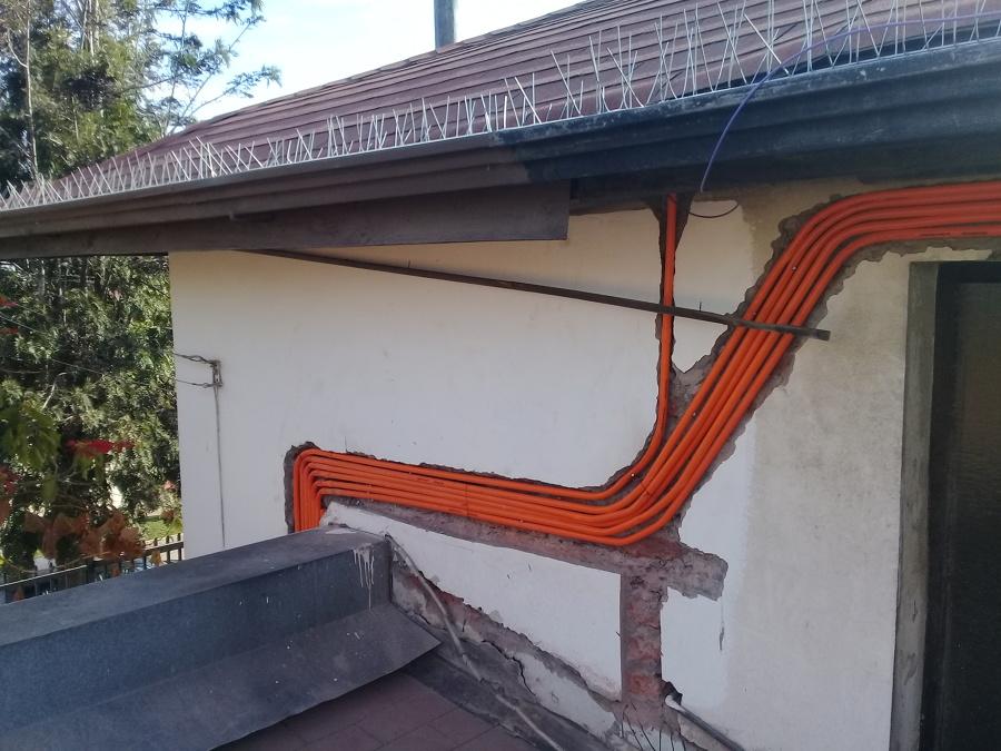 ducteria nueva instalación circuitos planta alta y anexos