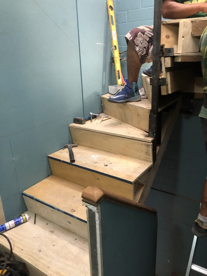 Escalera en proceso 4