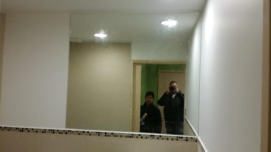 Muro de vidrio espejos obra gimnasio ideas vidrieros - Espejos para gimnasio ...
