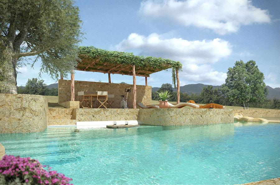Foto piscina de piedra 109812 habitissimo for Diseno de piscinas para casas de campo