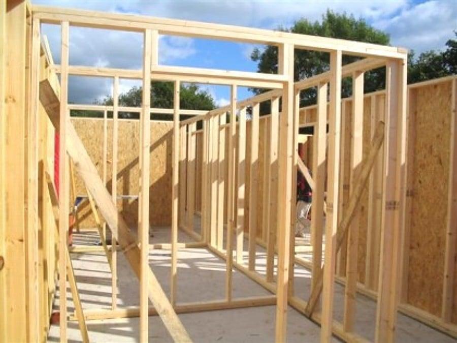 Foto estructura madera de ia arquitectura - Estructura casa de madera ...