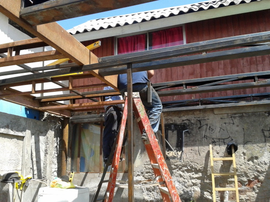 Ampliaci n ideas construcci n casa for Como hacer una estructura metalica para techo