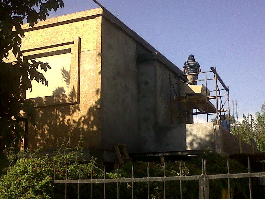 estuco de muros en 2 º piso