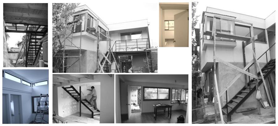 Etapa de obra, fotos interiores y exteriores