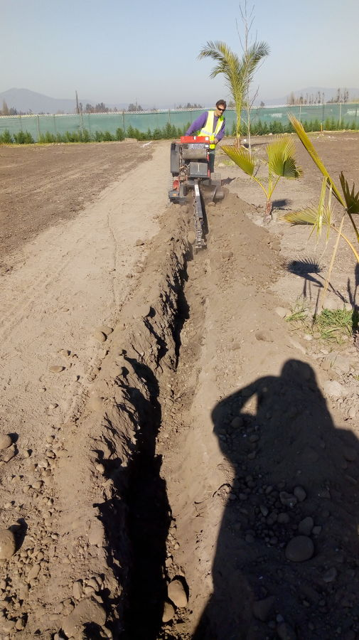 excavaciones con zanjadora