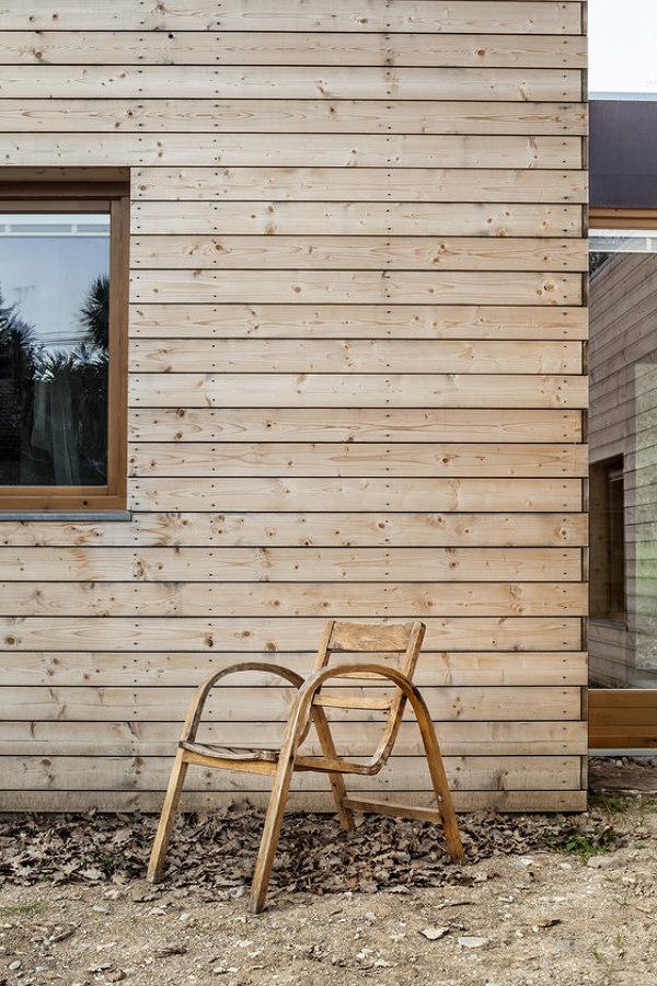Exterior revestido en madera