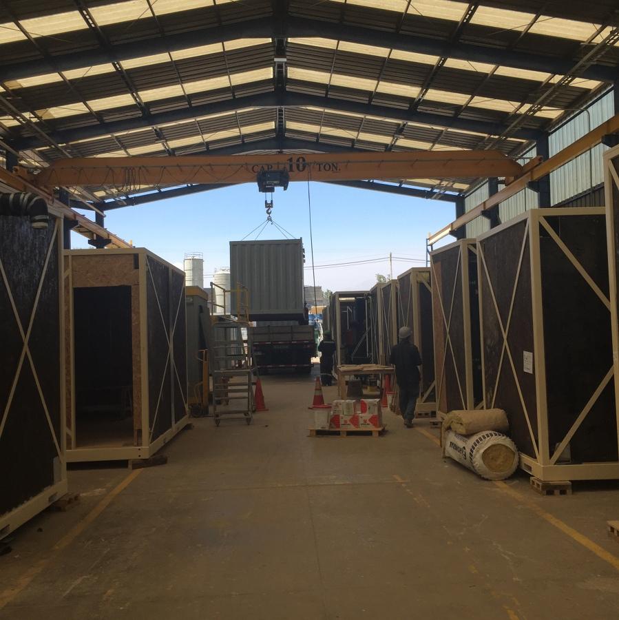 Construcci n de oficinas modulares operaciones mina sqm for Construccion de oficinas