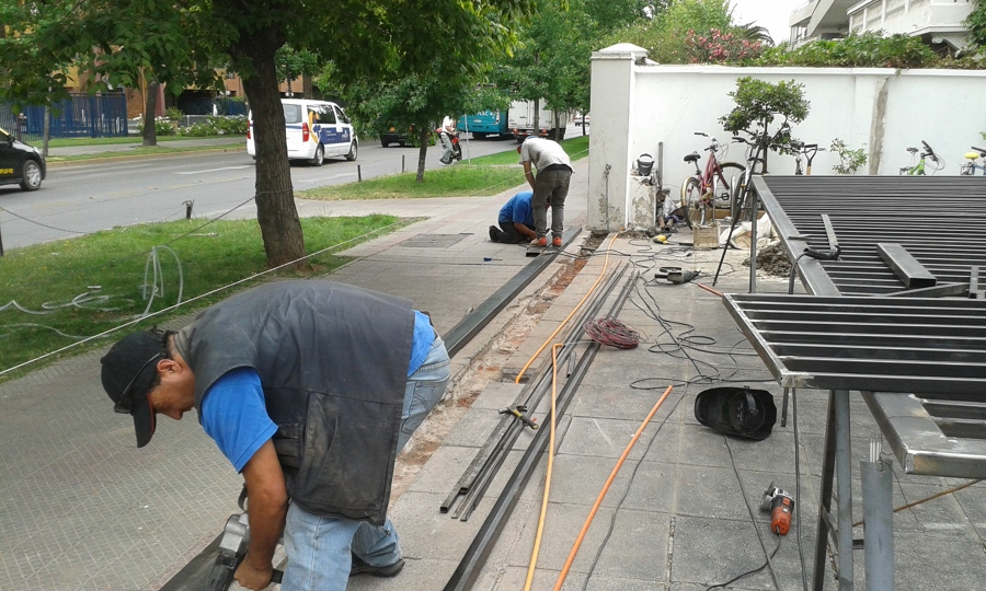 Fabricación de portón eléctrico
