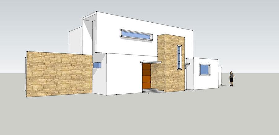 Fachada poniente - Casa Las Pircas