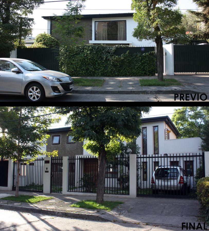 Foto fachada principal antes y despu s de raffo for Remodelacion de casas pequenas fotos