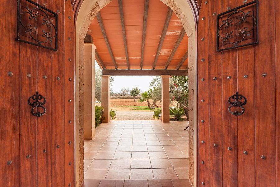 puertas de madera rústica