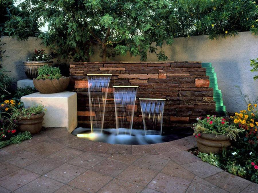 Fuentes decorativas un oasis en tu terraza o jard n ideas construcci n piscina - Fuente terraza ...