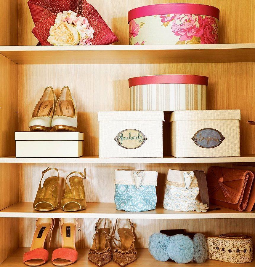 Guardar accesorios y zapatos especiales