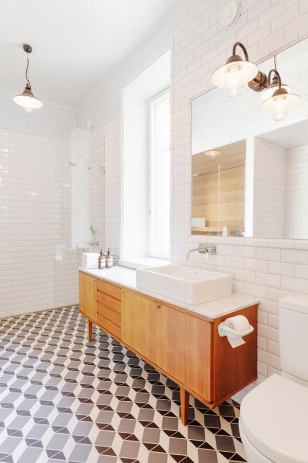 Decoración vintage en baño