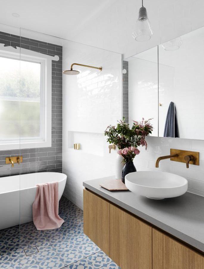 Hermoso baño remodelado