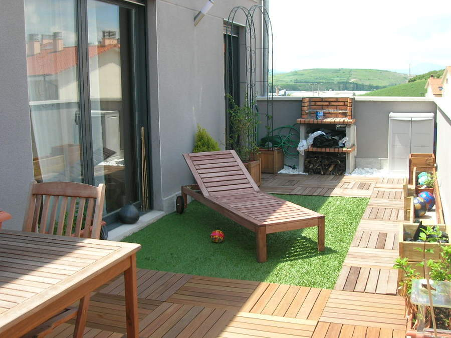 foto ideas cesped terraza balcon 101078 habitissimo On cesped terraza