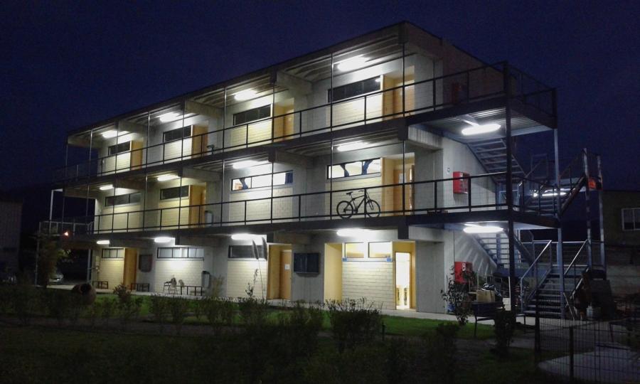 iluminacin exterior edificio