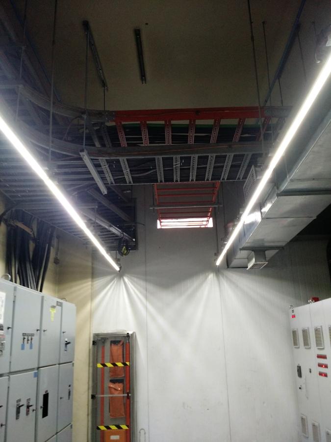 Iluminación led para sala de control