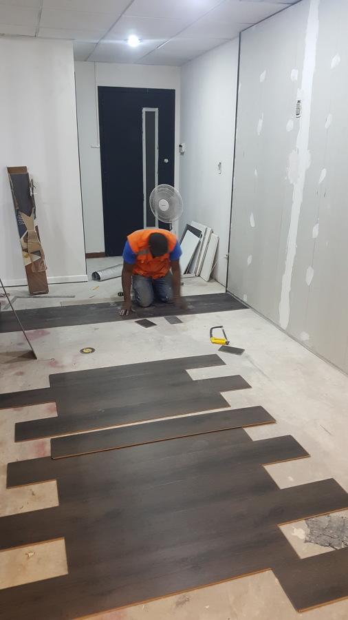 Instalación de piso Novocore 1