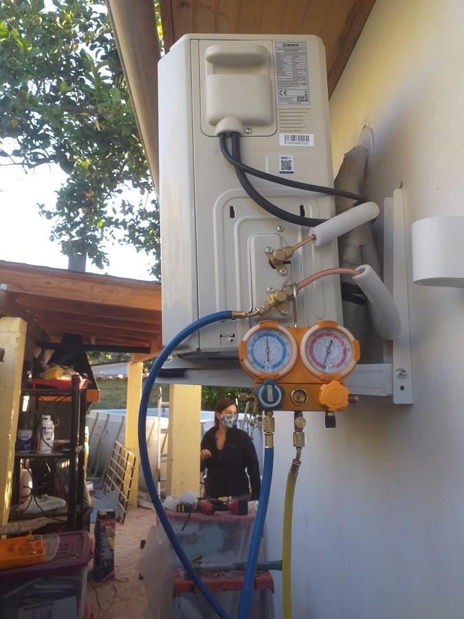 instalación de unidad exterior(condensadora)