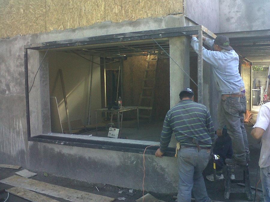 instalacion estructura ventana