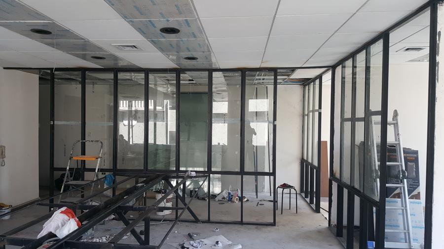 Instalación vidrios