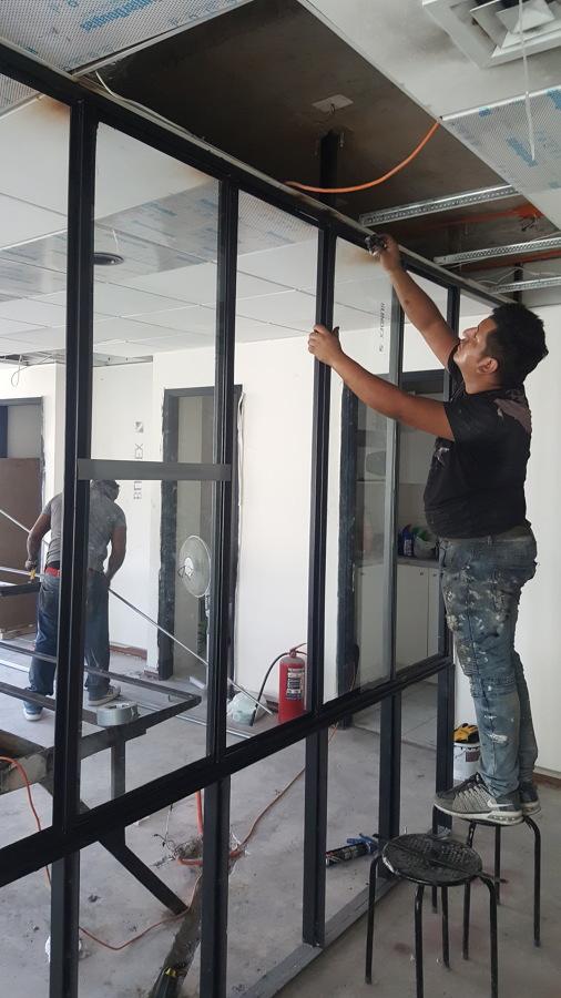 Instalación vidrios2
