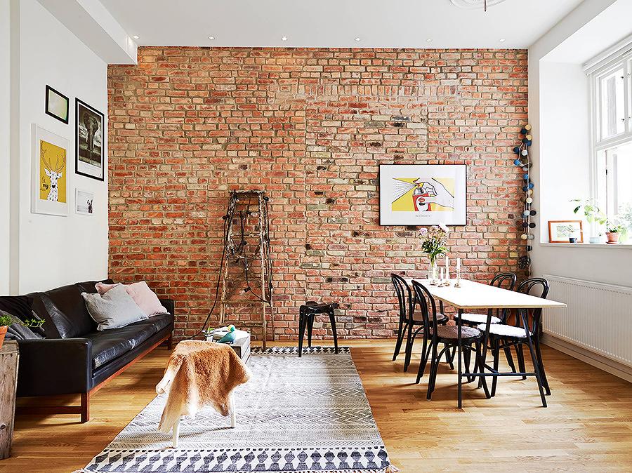Foto muro revestido con ladrillo 193025 habitissimo - Muros de ladrillo visto ...