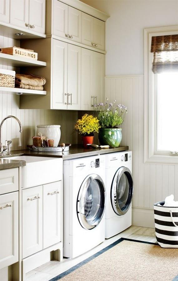 Lavadora y secadora a la vista