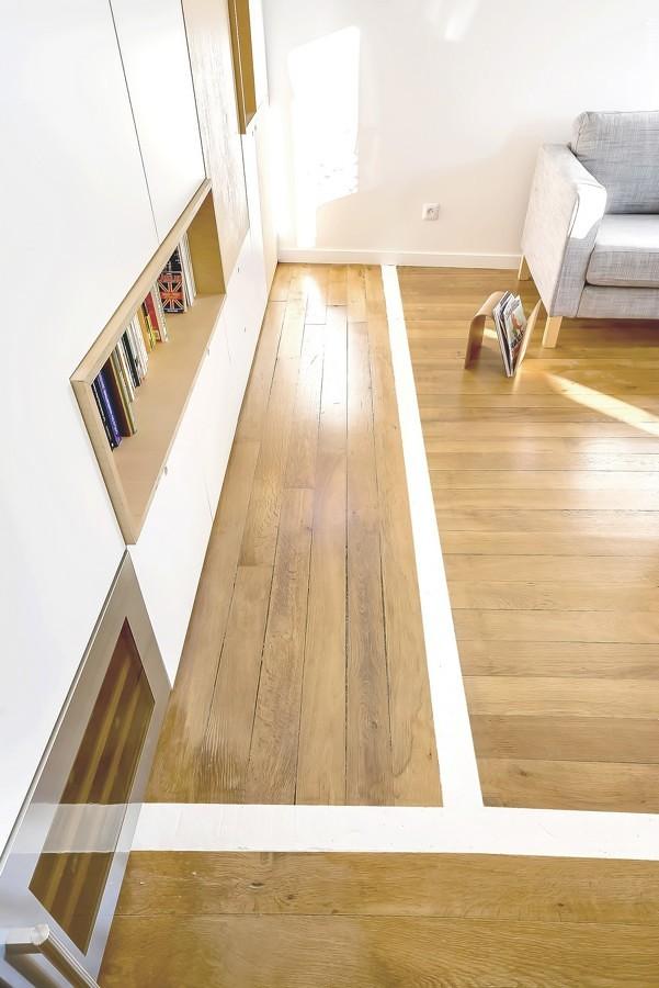 Lineas divisorias en piso