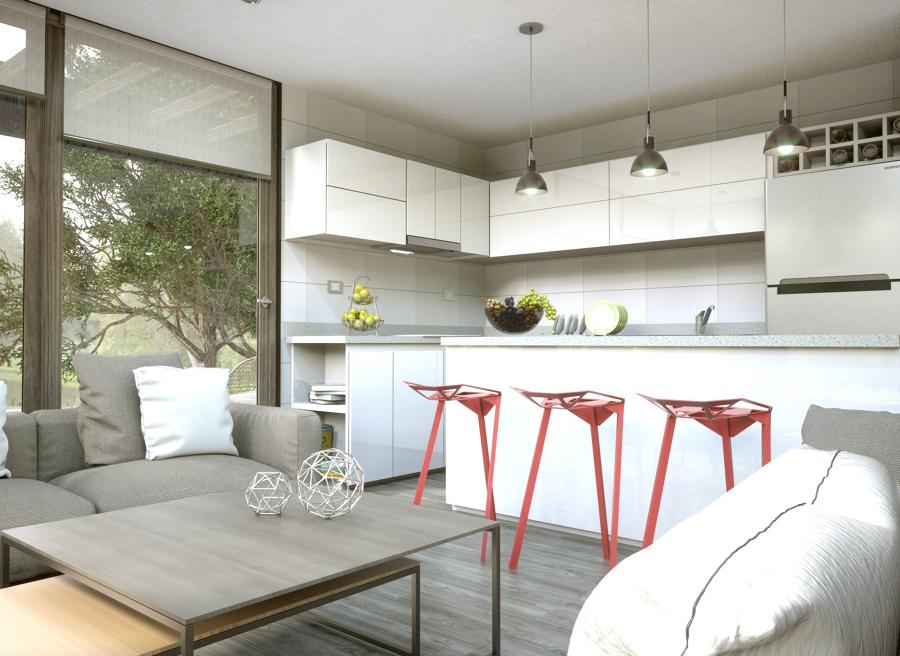 Proyecto caba a ideas arquitectos for Cocina americana rustica