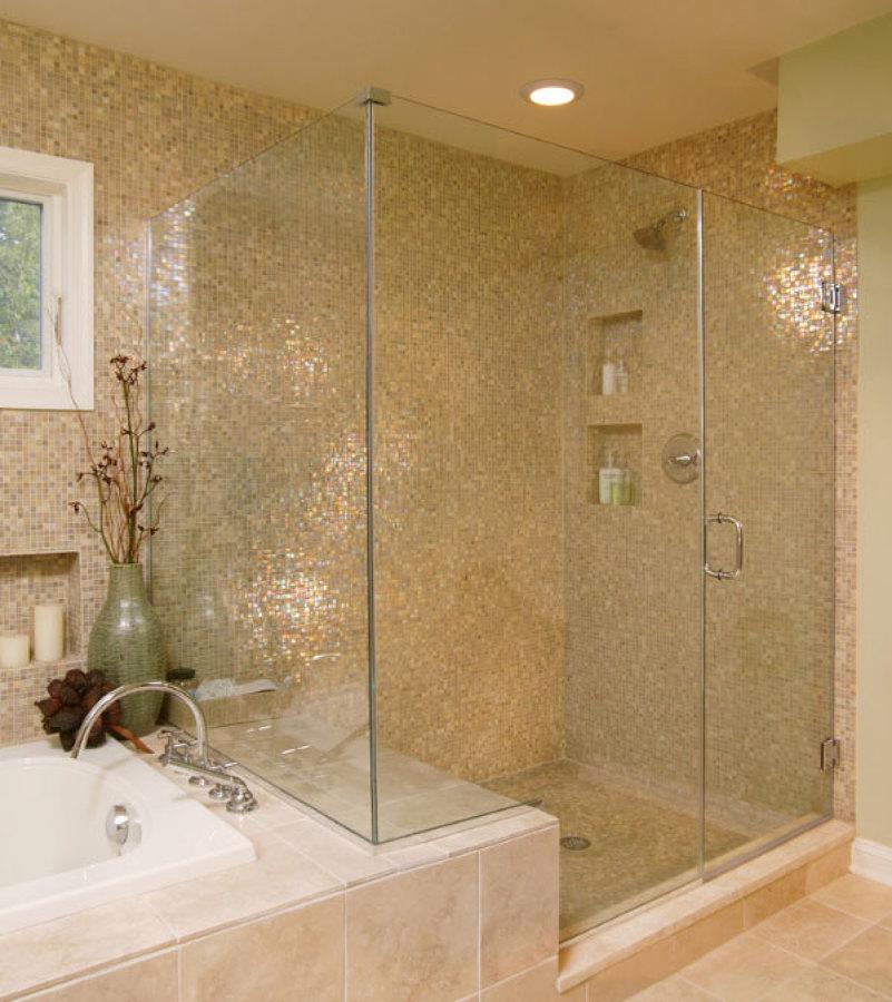 malla mosaico dorada