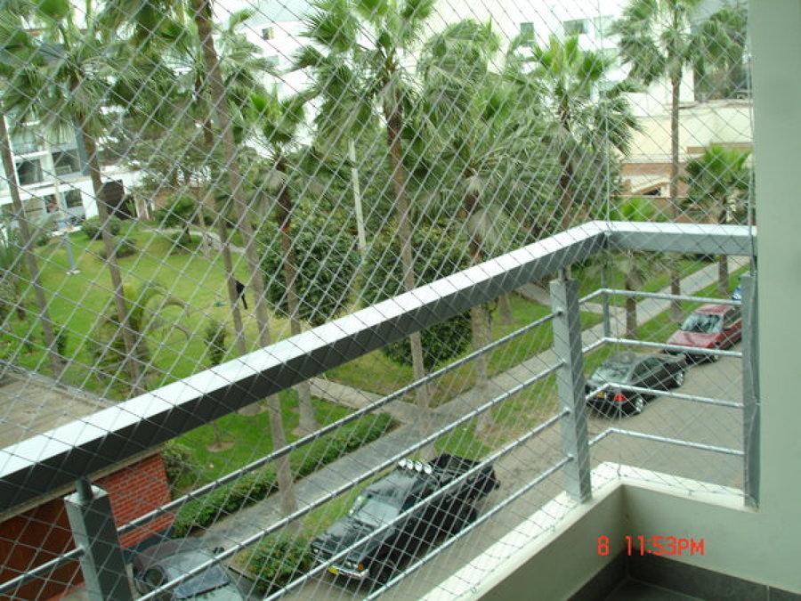 Foto malla protecci n seguridad anticaidas balc n y - Malla para balcones ...