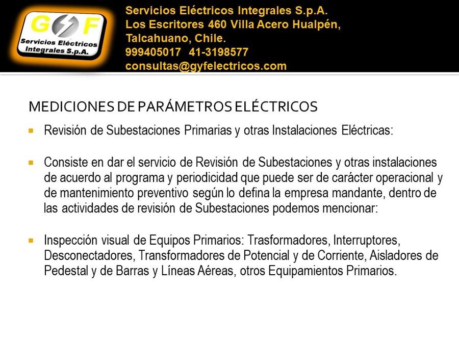 Medición de parámetros eléctricos