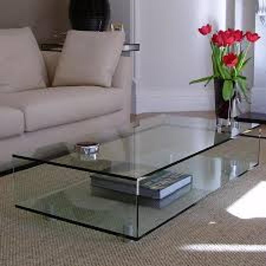 Foto mesa de centro cristal 15mm pegado uv de altmain for Centro de mesa de cristal