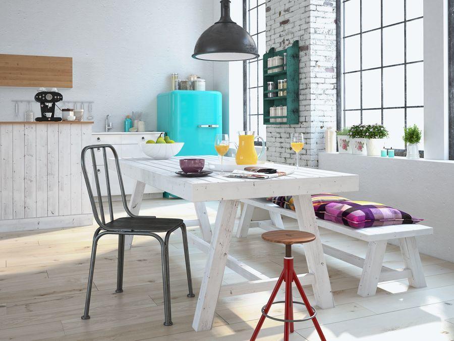 Mesa de comedor de estilo escandinavo