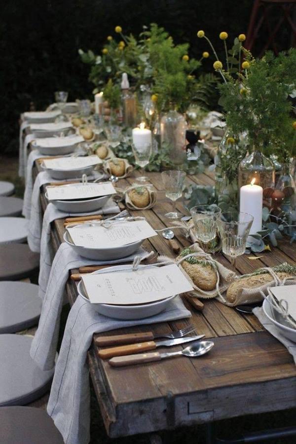 mesa rústica nature