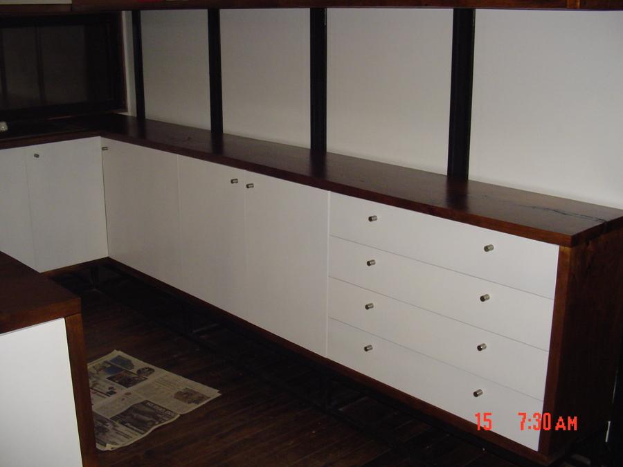 Foto mueble cocina en obra de constructora tecni hous e i for Mueble cocina en l