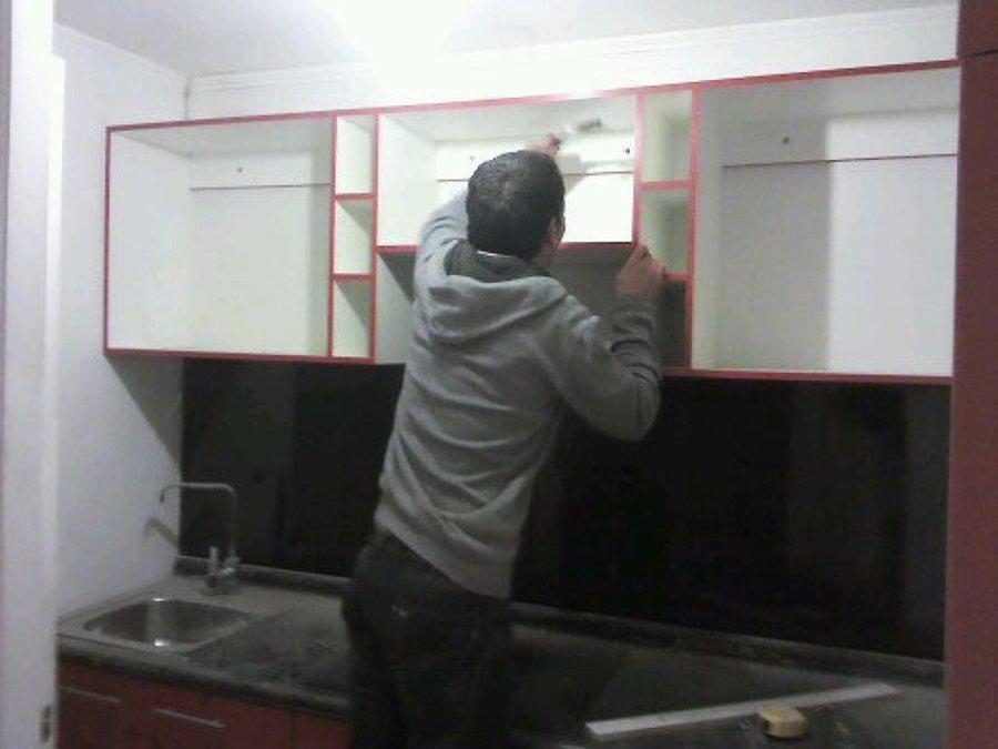 Foto mueble de cocina alto brillo de muebles lisperguer - Mueble alto cocina ...