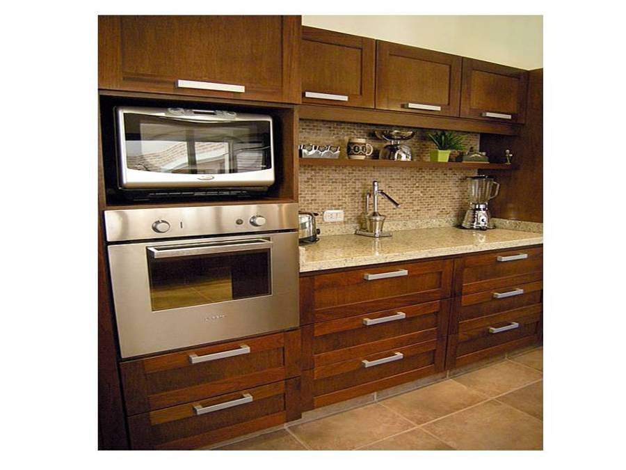 Foto mueble de cocina mueble porta horno y microonda de for Esmalte para muebles de cocina