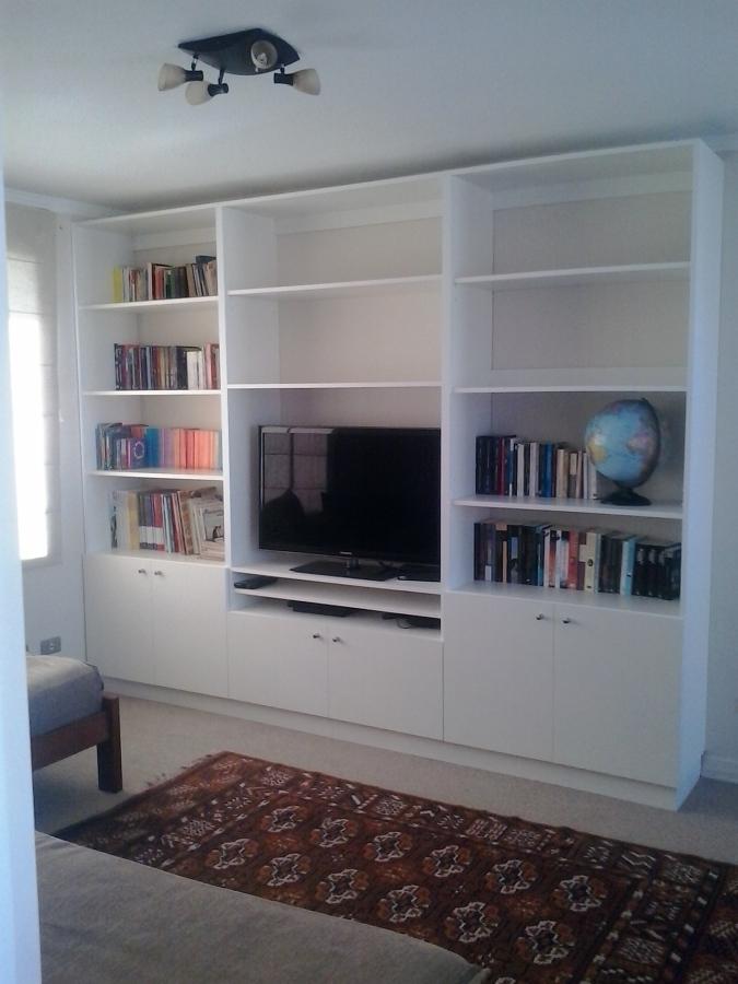 Mueble tv , librero , melamina vesto