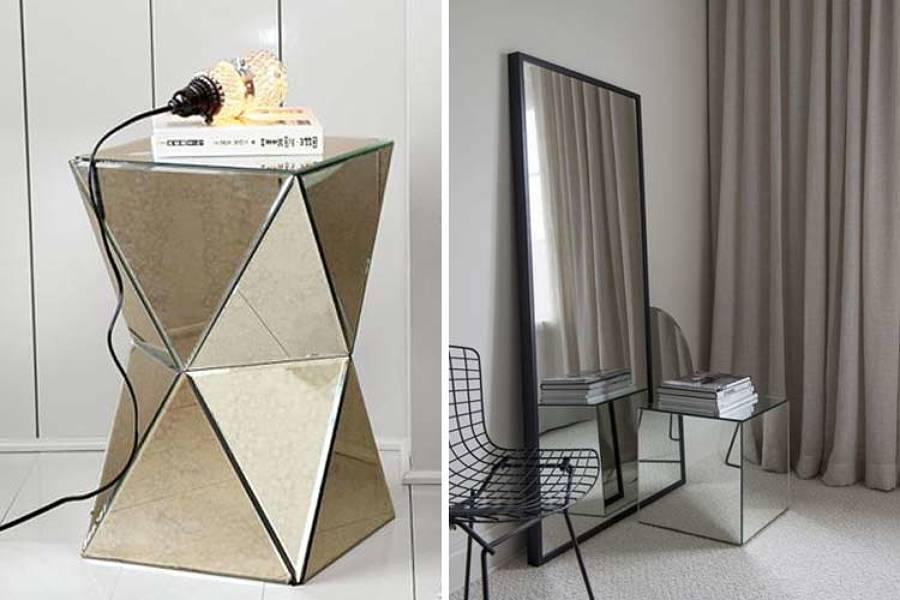 muebles con espejos reflejo