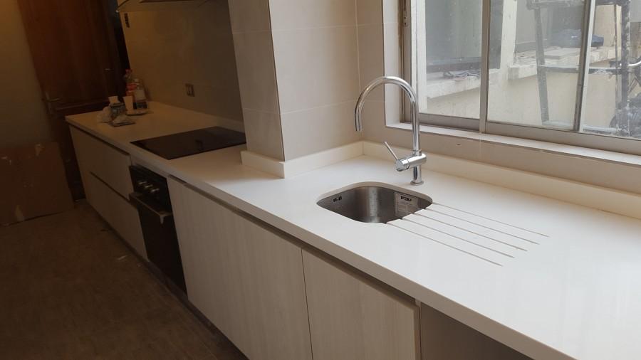 Muebles de cocina en melaminico teka artico texturado 18mm marca vesto
