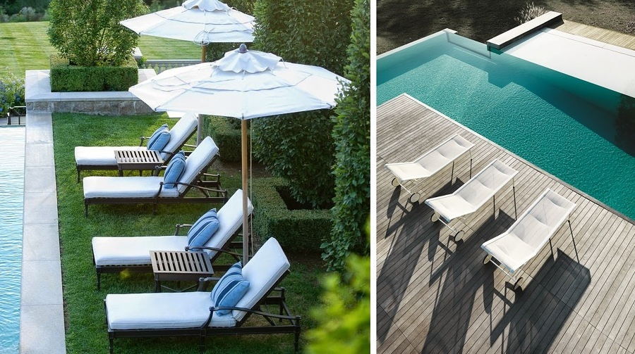 Elige las mejores reposeras para tu pileta ideas for Mobiliario piscina