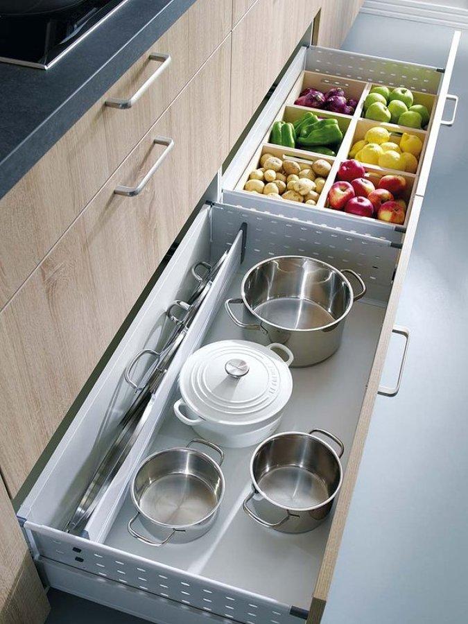 muebles de cocina con un buen almacenaje