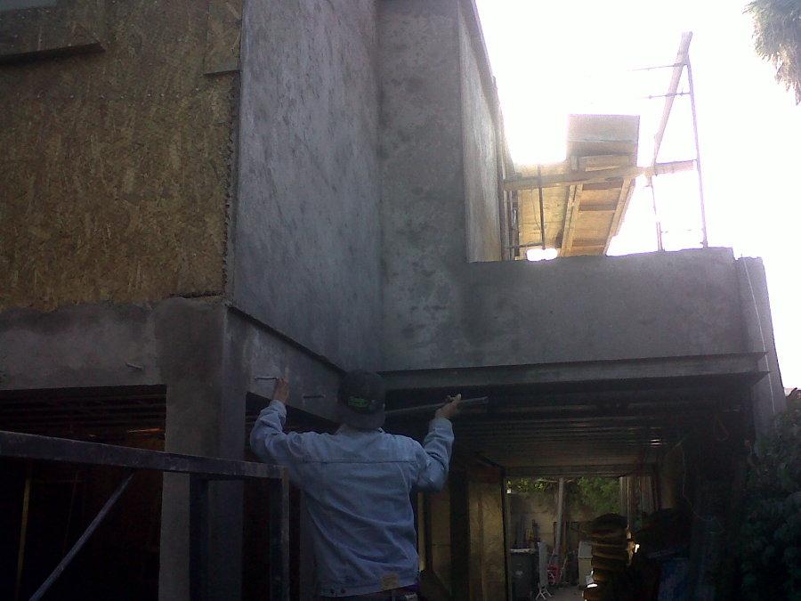 muros de osb de 15 mm estucados