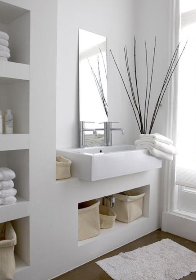 Muros en baño remodelado