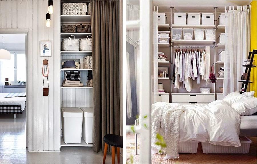 Organizar el closet con ayuda de cestas y cajas