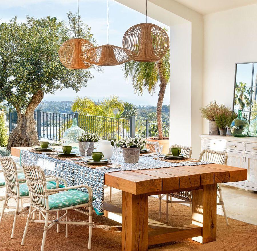 Comedor exterior con lindas vistas