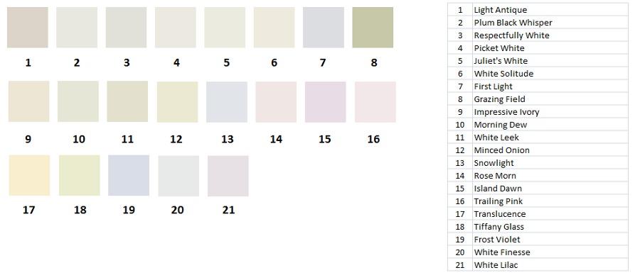 Paleta de colores Ceresita